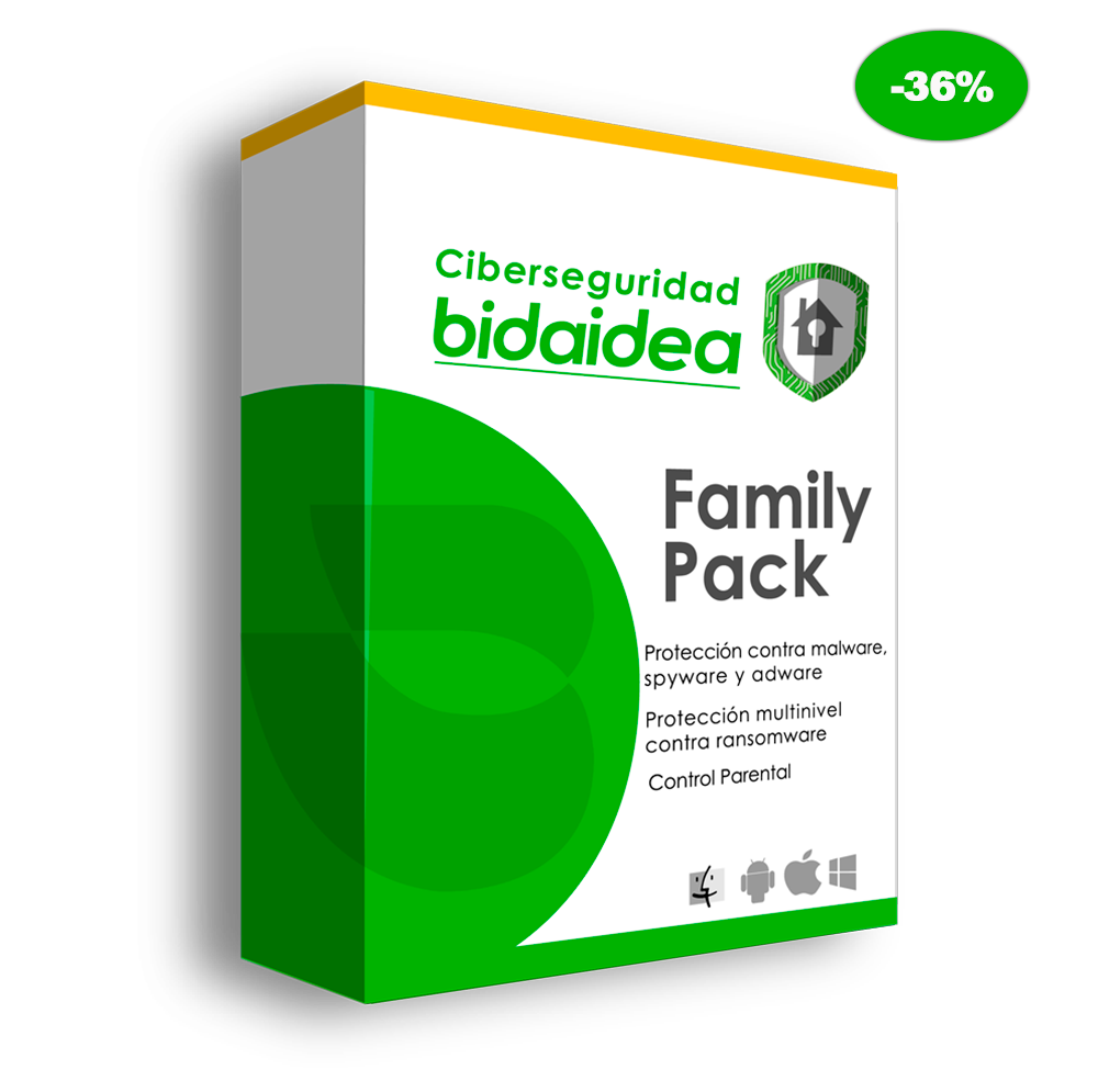 antivirus bidaidea family pack dto - Empresa de Ciberseguridad