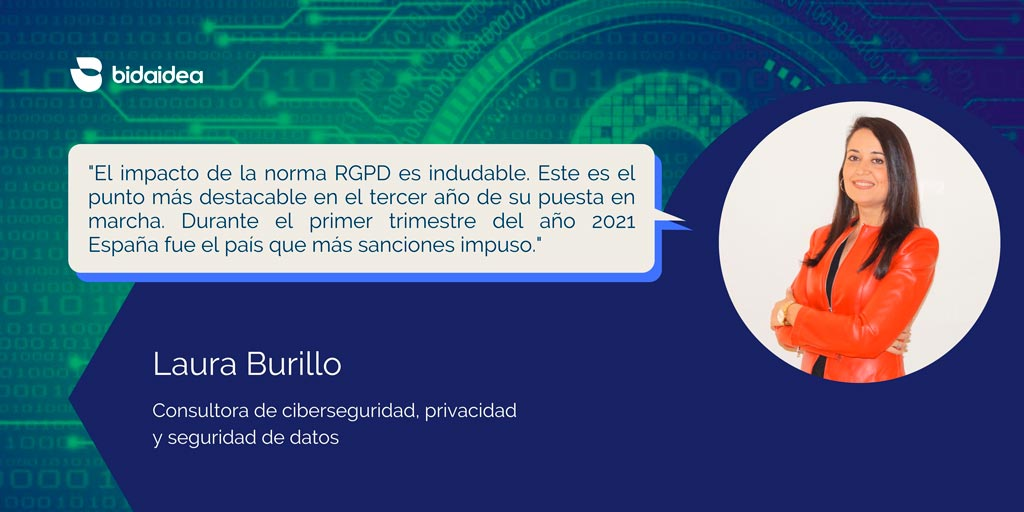 Laura Burillo Experta en RGPD Bidaidea