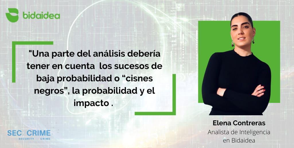 Elena Contreras. Analista de Inteligencia en Bidaidea