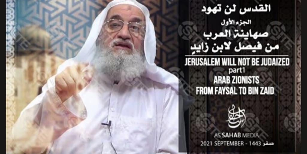 Captura del vídeo de al-Zawahiri sobre su «pronunciación» ante la toma de Afganistán